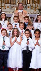 Class holy cards for Confirmation and First Communion