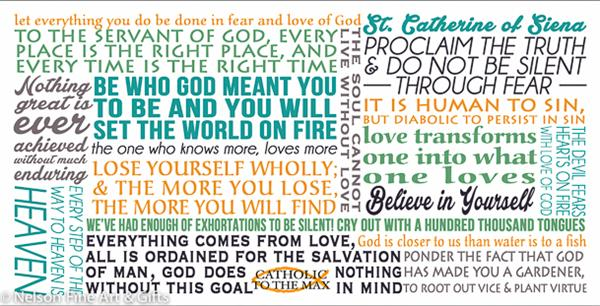 st catherine of siena quote mug  25213