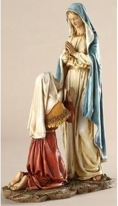 Our Lady Of Lourdes Statue In 10 Inch Scale