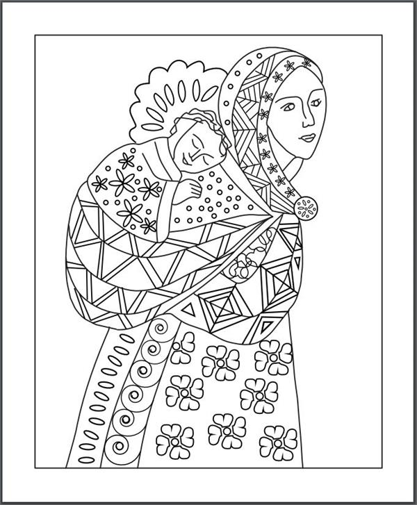 Blessed Mother Coloring Page Titlermedicin Website