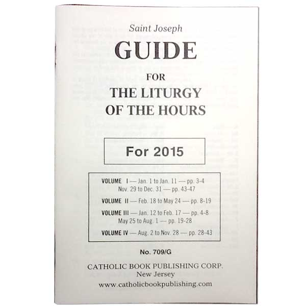 Declarative image throughout printable liturgy of the hours guide