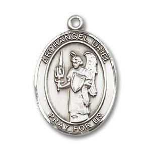 St. Uriel Medal - Sterling Silver with 18 in. Chain - Engravable