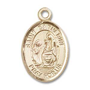 St. Catherine of Siena Charm - 14 KT Gold (#84494)