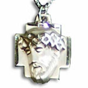 Sacred Head of Jesus in Sterling Silver