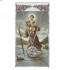 St. Christopher Pendant and Prayer Card Set