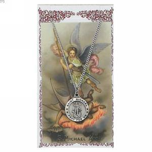 St. Michael Pendant and Prayer Card Set