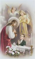 Personalized First Communion Holy Cards- Boy