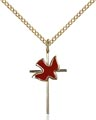 Gold Filled Cross - Holy Spirit Necklace #87408