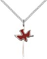 Sterling Silver Cross - Holy Spirit Necklace #87411