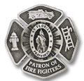 Patron of Fire Fighters Visor Clip
