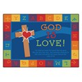 God is Love Rectangle Rug