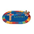 God is Love Oval Rug