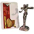 Gifts of The Holy Spirit 3.5 Inch Pewter Crucifix