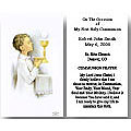 Personalized First Communion Holy Cards