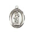 Saint Barbara Sterling Silver Medal