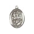 Saint George Sterling Silver Medal
