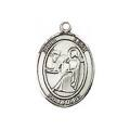 Saint Luke Sterling Silver Medal