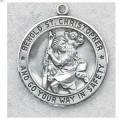 St. Christopher Medal in Sterling Silver