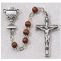 Boys Communion Rosary with Bown Beads