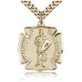 St. Florian Medal - Gold Filled - Medium, Engravable  (#81578)