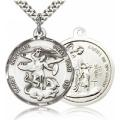 St. Michael the Archangel Medal - Sterling Silver - Large, Engravable  (#85629)