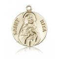 St. Rita of Cascia Medal - 14 KT Gold - Large, Engravable  (#81659)