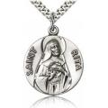 St. Rita of Cascia Medal - Sterling Silver - Large, Engravable  (#81660)