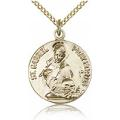 St. Gabriel of the Blessid Virgin Medal - Gold Filled - Medium, Engravable  (#81703)