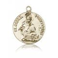 St. Gabriel of the Blessid Virgin Medal - 14 KT Gold - Medium, Engravable  (#81704)