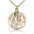 St. Nicholas Medal - Gold Filled - Medium, Engravable  (#81813)