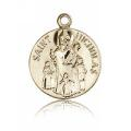 St. Nicholas Medal - 14 KT Gold - Medium, Engravable  (#81814)