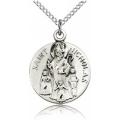 St. Nicholas Medal - Sterling Silver - Medium, Engravable  (#19157)
