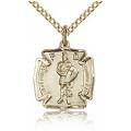 St. Florian Charm - Gold Filled (#84448)
