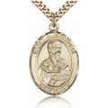 St. Alexander Sauli Medal - Gold Filled - Large, Engravable  (#81930)