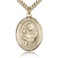 St. Clare of Assisi Medal - Gold Filled - Large, Engravable  (#81987)