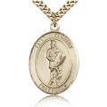 St. Florian Medal - Gold Filled - Large, Engravable  (#82005)