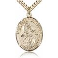 St. Gabriel the Archangel Medal - Gold Filled - Large, Engravable  (#82020)