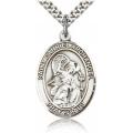 St. Gabriel the Archangel Medal - Sterling Silver - Large, Engravable  (#19051)
