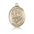 St. George Medal - 14 KT Gold - Large, Engravable  (#82024)