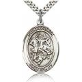 St. George Medal - Sterling Silver - Large, Engravable  (#19032)