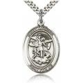 St. Michael the Archangel Medal - Sterling Silver - Large, Engravable  (#19015)