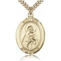 St. Rita of Cascia Medal - Gold Filled - Large, Engravable  (#82175)