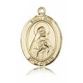 St. Rita of Cascia Medal - 14 KT Gold - Large, Engravable  (#82176)