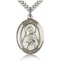 St. Rita of Cascia Medal - Sterling Silver - Large, Engravable  (#19055)