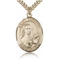 St. Therese of Lisieux Medal - Gold Filled - Large, Engravable  (#82469)