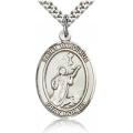 St. Tarcisius Medal - Sterling Silver - Large, Engravable  (#82585)
