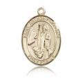 St. Anthony of Egypt Medal - 14 KT Gold - Large, Engravable  (#82722)