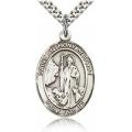 St. Anthony of Egypt Medal - Sterling Silver - Large, Engravable  (#82723)