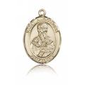 St. Alexander Sauli Medal - 14 KT Gold - Medium, Engravable  (#83300)