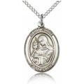 St. Clare of Assisi Medal - Sterling Silver - Medium, Engravable  (#19169)